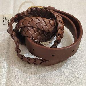 LOFT Brown Braid Belt (M) #471